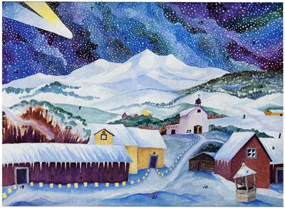 Advent Calendar, Hispanic Village