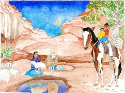 Advent Calendar, Desert Reflections